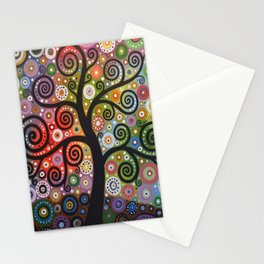 Abstract Art Landscape Original Painting ... Tree of Wishes Stationery Cards