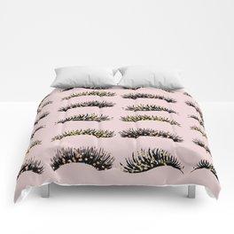Blush pink - glam lash design Comforters