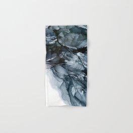 Dark Payne's Grey Flowing Abstract Painting Hand & Bath Towel