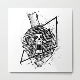 Brook Handmade Drawing, Made in pencil and ink, Tattoo Sketch, Tattoo Flash, Blackwork Metal Print