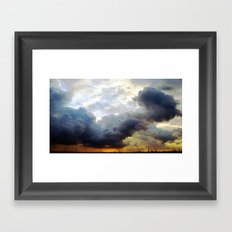 rotterdam sunset II. Framed Art Print