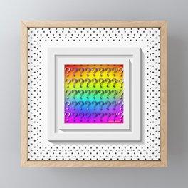 Questions Framed Mini Art Print