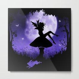 fairy in the moonlight Metal Print