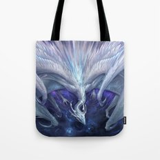 White Crystal Dragon Tote Bag