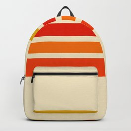Abstract Minimal Retro Stripes 70s Style - Nagatane Backpack
