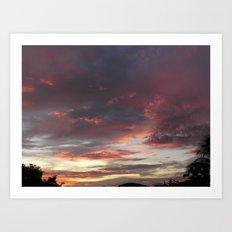 Caribbean Sunset II Art Print