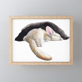 Sleeping Fennec Framed Mini Art Print