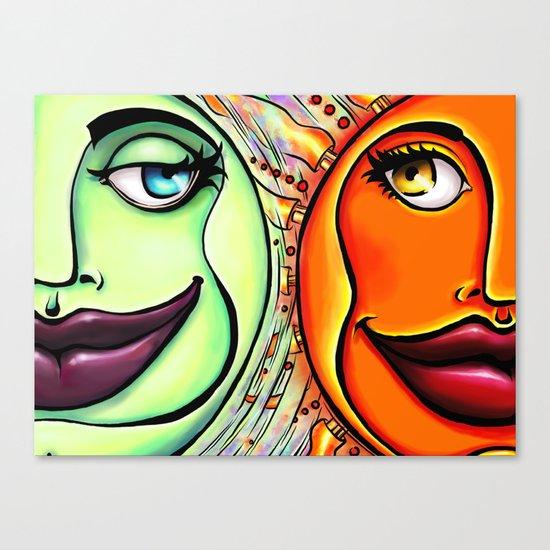 Moon & Sun Canvas Print