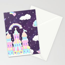 Dreamy Cute Space Castle Stationery Cards