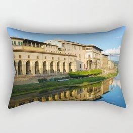 The Arno River - Florence Italy Rectangular Pillow