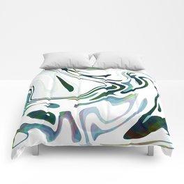 Greed Liquid Marbled Waves Design Comforters