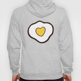 Heart Shaped Fried Eggs Pattern Hoody