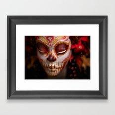 Crimson Harvest Muertita Detail Framed Art Print