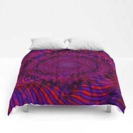 Hypnotica #1 Vibrant Psychedelic Illusion Comforters