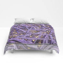 PURPLE KINDLING AND GLOWING EMBERS ABSTRACT Comforters