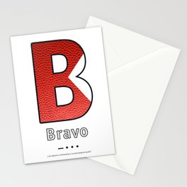 Bravo - Navy Code Stationery Cards