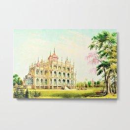 P.T. Barnum's 1848 lost palace of Iranistan in Bridgeport, Connecticut Metal Print