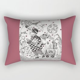Mr. Hat goes to the Park Rectangular Pillow