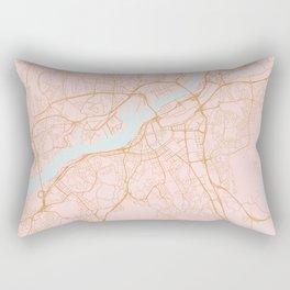 Gothenburg map, Sweden Rectangular Pillow