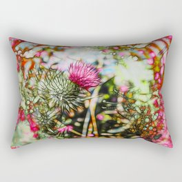 Vibrant abstract  thistle Rectangular Pillow
