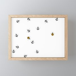 Bees images Playing Around Framed Mini Art Print