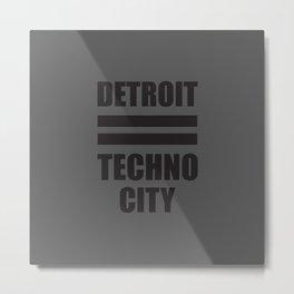 Detroit Techno city, electronic music djs gift Metal Print