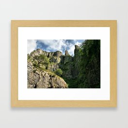 Cheddar Cliffs Framed Art Print