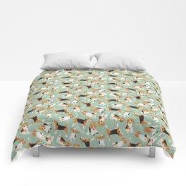 beagle scatter mint Comforters