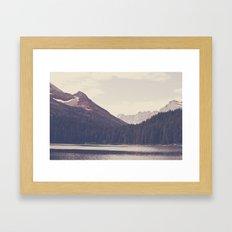 Morning Mountain Lake Framed Art Print