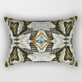 White Timber Snake Rectangular Pillow