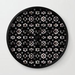 Dark Luxury Baroque Pattern Wall Clock