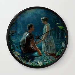 "John Simmons ""Hermia and Lysander. A Midsummer Night's Dream"" Wall Clock"