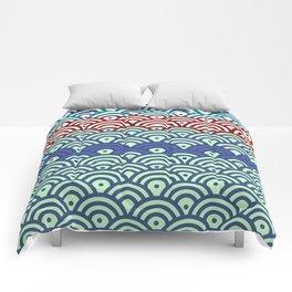 Art Deco Seigaiha 2 Comforters