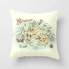 Neverland Map Throw Pillow