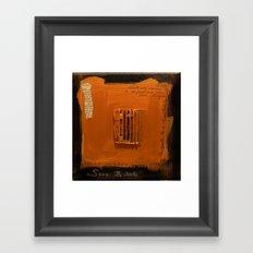 SAVE BABEL GOLD Framed Art Print