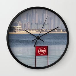 Dubai No Swimming Sign Wall Clock