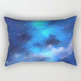 Interstellar Angelic Blue Dust Rectangular Pillow