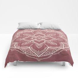 Gothic Mandala -Dusty Rose Comforters