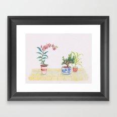 A flowery feeling Framed Art Print