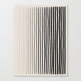 Black Vertical Lines Canvas Print
