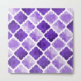 purple blue watercolor Metal Print