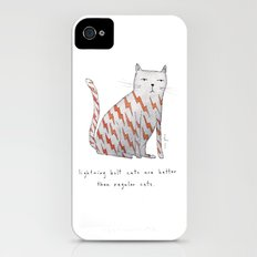 lightning bolt cats are better iPhone (4, 4s) Slim Case