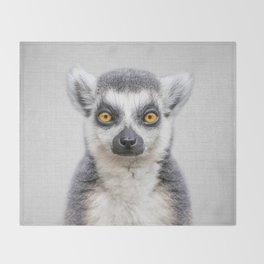 Lemur 2 - Colorful Throw Blanket