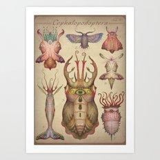 Cephalopodoptera Tab. II Art Print