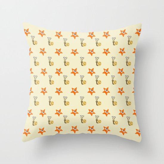 Stars&Snails Throw Pillow