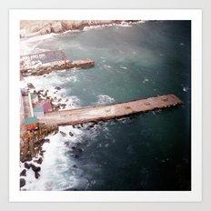 Cold Dark Sea Art Print