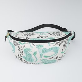 Cheetah Collection – Mint & Black Palette Fanny Pack