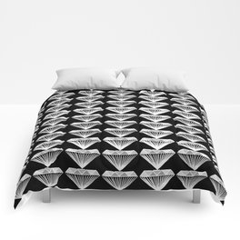 Diamonds Pattern - Black and White and Grey Comforters