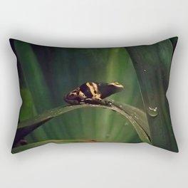 Frog on a Leaf Rectangular Pillow