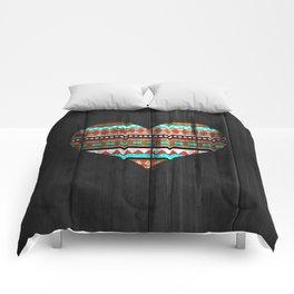 Aztec tribal heart Comforters